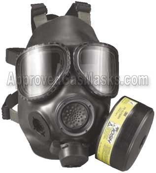 FRM40 FR M40 gas mask respirator by 3M is NIOSH certified for CBRN