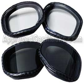 Lens covers for the M40 gas mask protect the primary lenses
