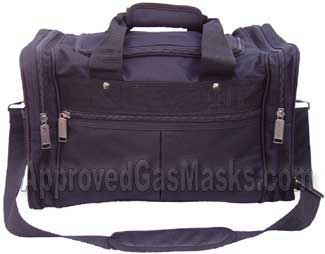Lightweight black nylon gear bag is the perfect size to store a mask, filter, suit and essential survival gear