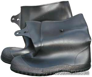 Rubber NBC overboots or overshoes for chemical protection