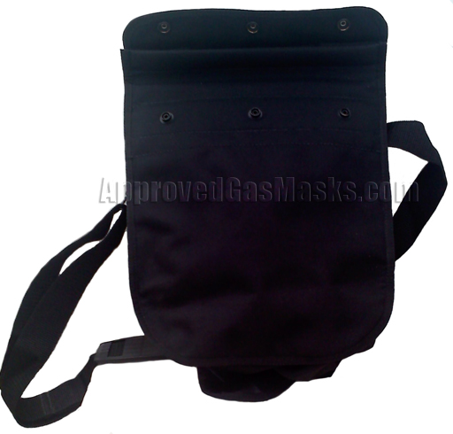 Lightweight black backpack is the perfect size to store a mask, filter, suit and essential survival gear