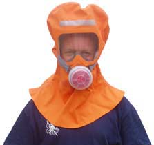 Dual protection  escape hood gas mask