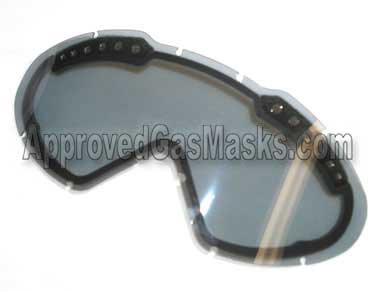 Optional smoke or grey tinted replacement lens attaches easily to the Hellstorm goggles