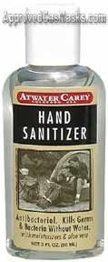 Hand Sanitizer lotion with aloe vera is great for camping and emergency kits