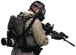 The C420 PAPR respiraotr system is used in true HazMat conditions or wherever a gas mask is worn for prolonged periods