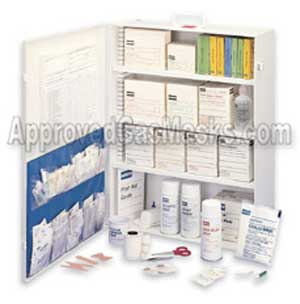 Emergency medical care first aid kit for up to a 100 person workplace
