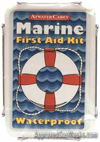 Waterproof First Aid Kit for use on more than boats, camping, travel, long term storage etc...
