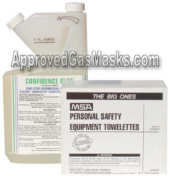 MSA Confidence Plus Gas Mask Cleaners
