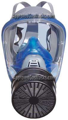The MSA 3100 gas mask is intended for domestic preparedness and features 40mm filters