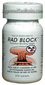 Rad Block radiation inhibiting tablets - potassium iodide