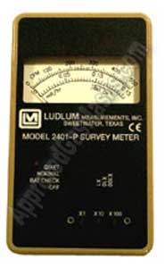 Handheld pocket radiation meter Ludlum 2401-P