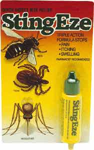 Sting Eze insect bite relief formula