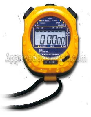 Large display welded high impact stop watch stopwatch