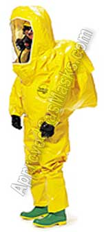 Tychem BR440 BR450 BR 440 450 Protective Chemical Suit - Coveralls with boots and hood