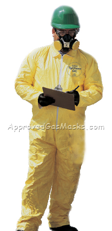 Tychem QC high performance chemical suit